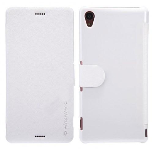 Nillkin Sony Xperia Z3 Kılıf Fresh Kapaklı Flip Cover Beyaz