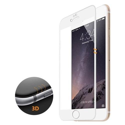 Microsonic İphone 6S 3D Kavisli Temperli Cam Full Ekran Koruyucu Film Beyaz