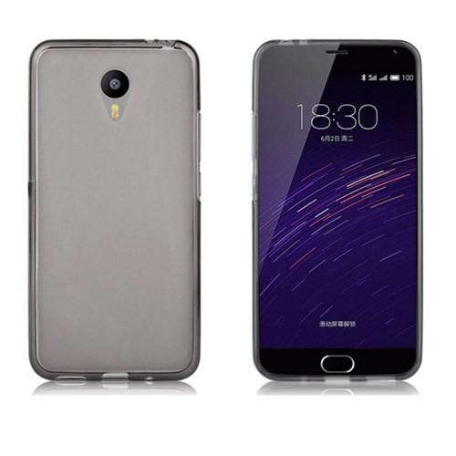 Case 4U Meizu M2 Note Ultra İnce Silikon Kılıf Füme
