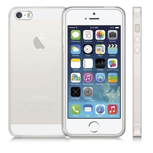 Case 4U Apple İphone 5S Ultra İnce Silikon Kılıf Şeffaf