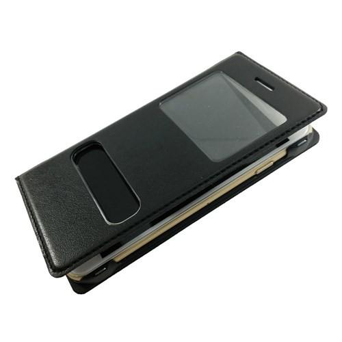 Case 4U Apple İphone 6S Pencereli Kapaklı Kılıf Siyah