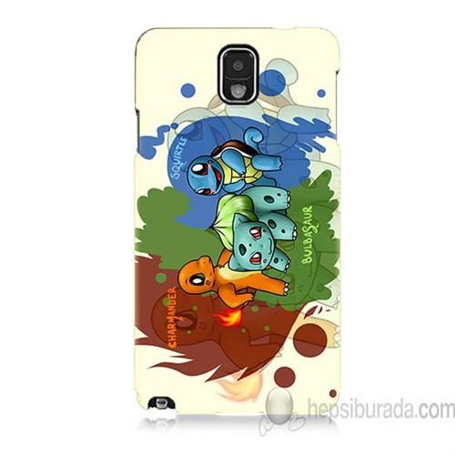 Teknomeg Samsung Galaxy Note 3 Kapak Kılıf Pokemon Baskılı Silikon