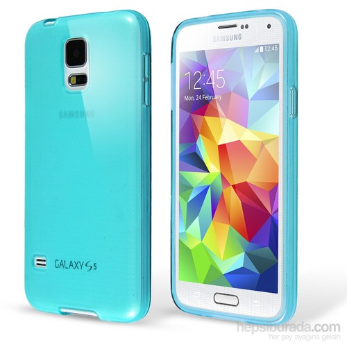 Microsonic Transparent Soft Samsung Galaxy S5 Mini Kılıf Mavi