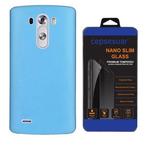 Cepsesuar Lg G3 Kılıf Silikon 0.2 Mm Mavi - Cam