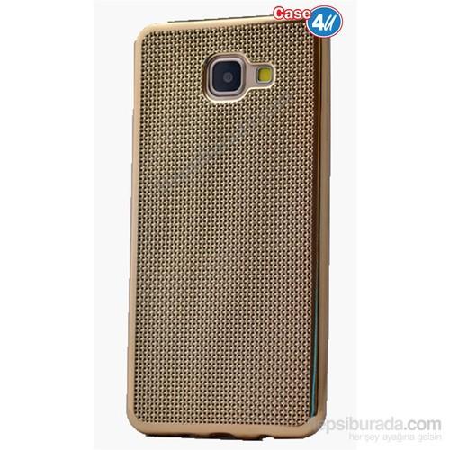 Case 4U Samsung A510 Galaxy A5 Hasır Desenli Ultra İnce Silikon Kılıf Altın