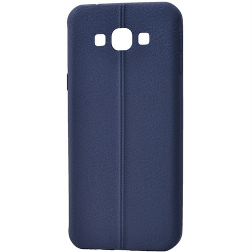 Lopard Samsung Galaxy A7 Kılıf Ribbon İnce Silikon Arka Kapak Lacivert