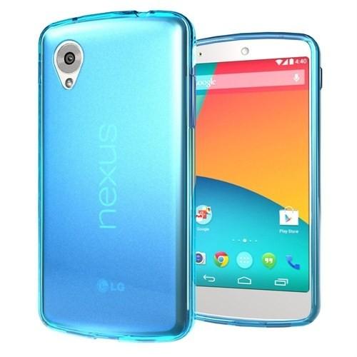 Microsonic Transparent Soft Lg Nexus 5 Kılıf Mavi
