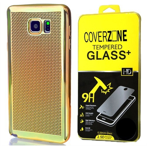 Coverzone Samsung Galaxy A5 Kılıf 2016 A510 Silikon Hasır Dizayn + Cam