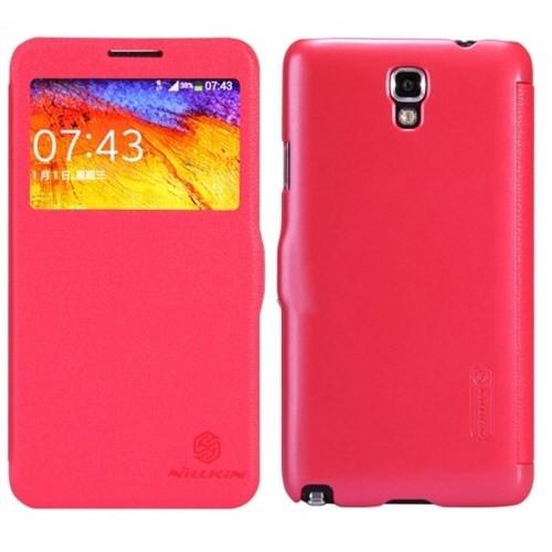 Nillkin Samsung Galaxy Note 3 Kılıf Fresh Kapaklı Flip Cover Kırmızı