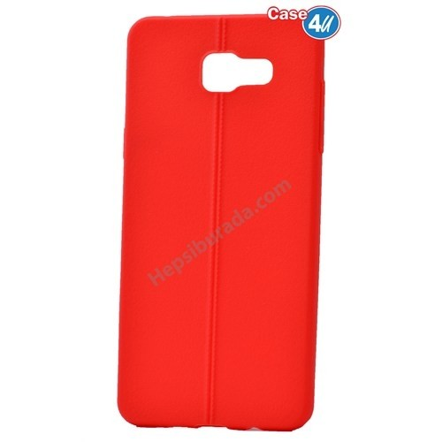 Case 4U Samsung A510 Galaxy A5 Desenli Silikon Kılıf Kırmızı