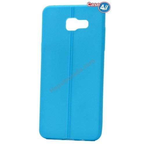 Case 4U Samsung A710 Galaxy A7 Desenli Silikon Kılıf Mavi