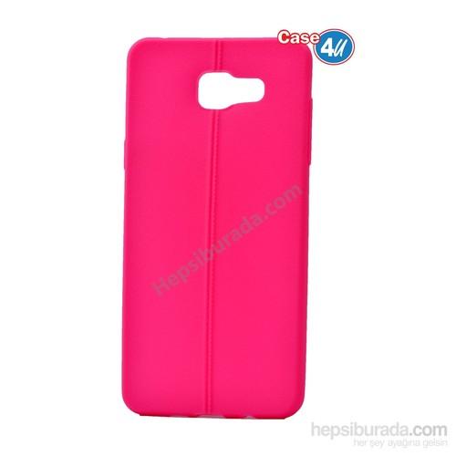 Case 4U Samsung A710 Galaxy A7 Desenli Silikon Kılıf Pembe