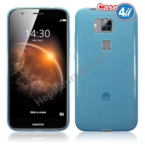 Case 4U Huawei G8 Ultra İnce Silikon Kılıf Mavi