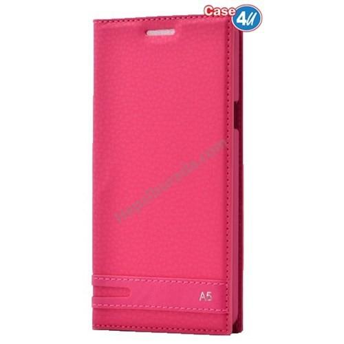 Case 4U Samsung A510 Galaxy A5 Dolce Kapaklı Kılıf Pembe