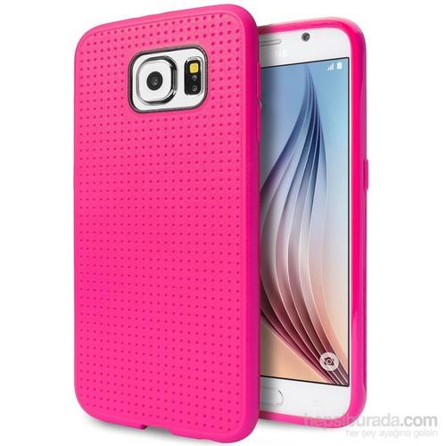 Case 4U Samsung Galaxy S6 Dot Style Silikon Kılıf Pembe