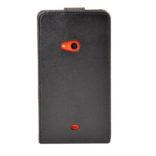 Vacca Nokia 625 Dik Cüzdan Tip Kilif Siyah