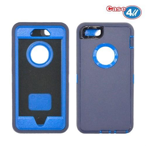 Case 4U Apple İphone 6 Plus Darbeye Dayanıklı Kılıf Mavi/Lacivert