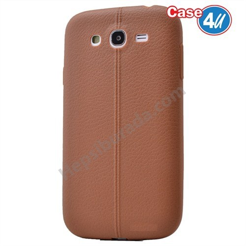 Case 4U Samsung Galaxy S3 Desenli Silikon Kılıf Kahve