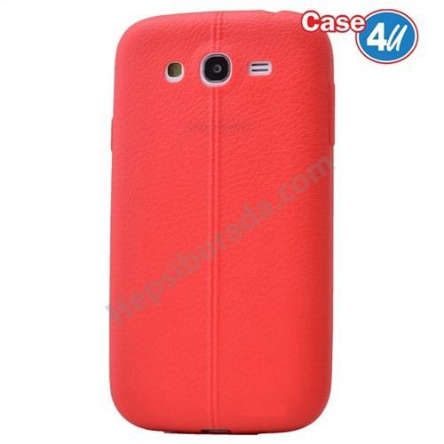 Case 4U Samsung Galaxy J5 Desenli Silikon Kılıf Kırmızı