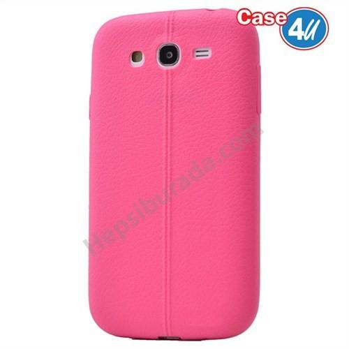 Case 4U Samsung Galaxy J5 Desenli Silikon Kılıf Pembe