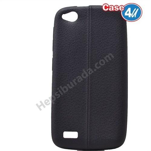 Case 4U General Mobile Discovery Desenli Silikon Kılıf Siyah