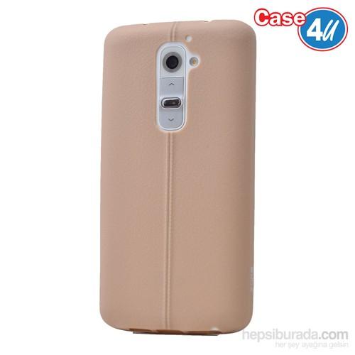 Case 4U Lg G2 Desenli Silikon Kılıf Altın