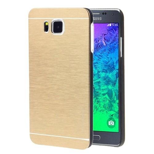 Microsonic Samsung Galaxy Alpha Kılıf Hybrid Metal Gold