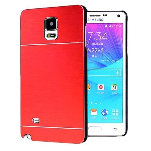 Microsonic Samsung Galaxy Note 4 Kılıf Hybrid Metal Kırmızı