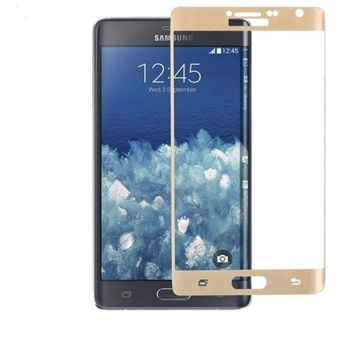 9H Samsung Galaxy Note Edge Ekran Koruyucu Gold