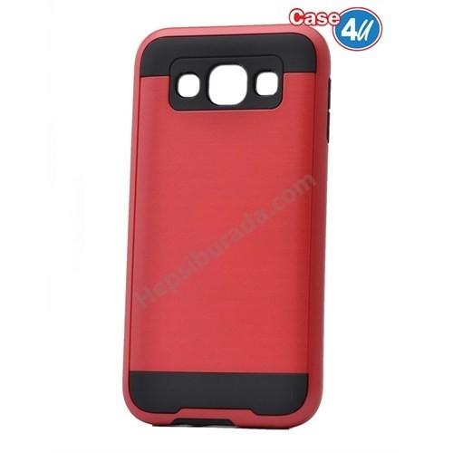 Case 4U Samsung Galaxy E7 Korumalı Kapak Kırmızı