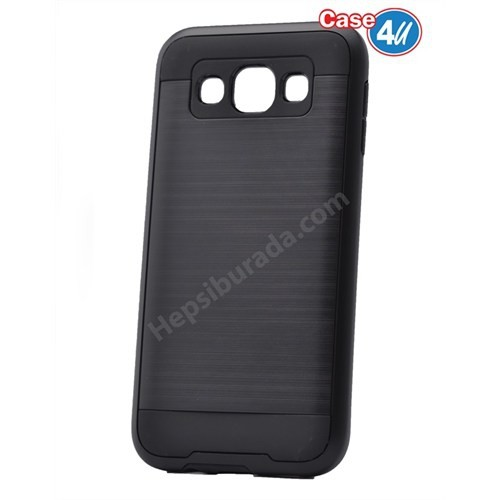 Case 4U Samsung Galaxy E5 Korumalı Kapak Siyah*
