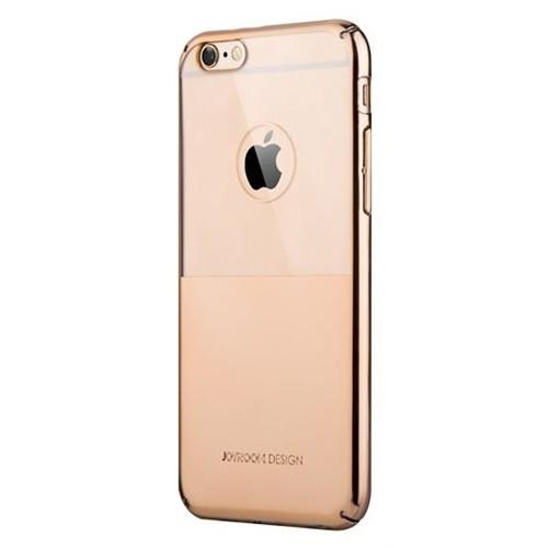 Joyroom iPhone 6-6S Metalik Gold Şeffaf Rubber Kılıf