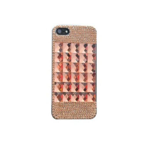 Vacca Apple iPhone 5/5s Kare Büyük Taşlı Somon