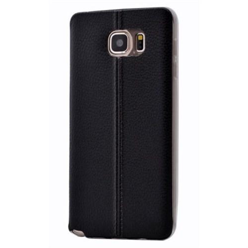 Teleplus Samsung Galaxy Note 5 Dikişli Silikon Kılıf Siyah