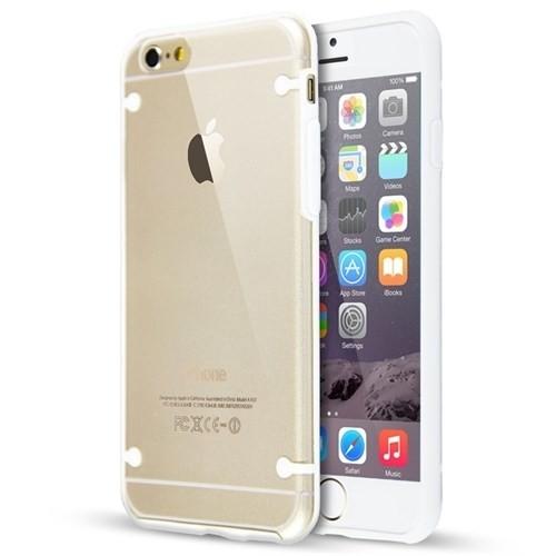 Teleplus İphone 6 Bumber Yüksek Korumalı Kılıf Beyaz