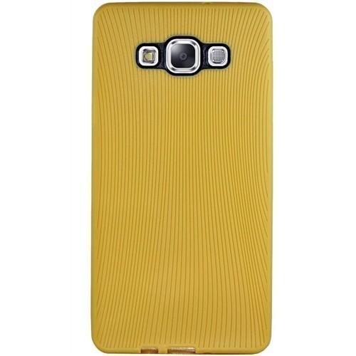 Cepsesuar Samsung Galaxy A7 Kılıf Line Hardal