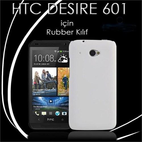 Teleplus Htc Desire 601 Rubber Kılıf Kapak Beyaz