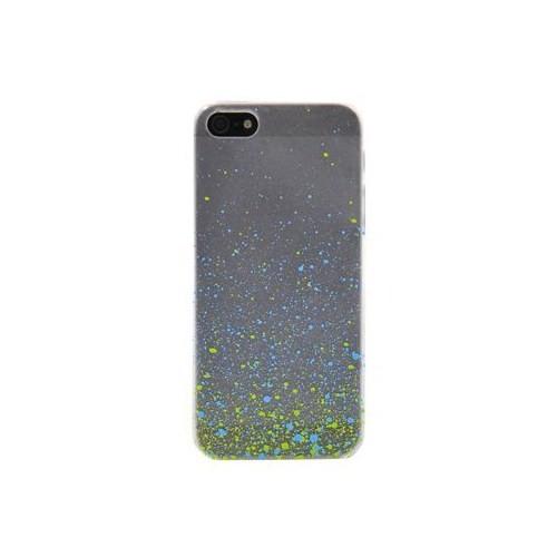Duck Apple iPhone 5 Paint Drops S-Line Mavi-Yeşil Kapak