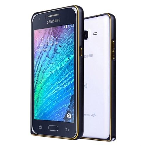 Microsonic Samsung Galaxy J7 Kılıf Thin Metal Çerçeve Siyah