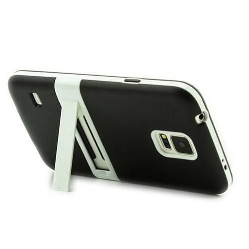 Microsonic Standlı Soft Samsung Galaxy S5 Kılıf Siyah