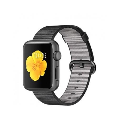 Apple Watch 38 Mm Uzay Grisi Alüminyum Kasa Siyah Naylon Örme Kordon Mmf62tu/A Akıllı Saat