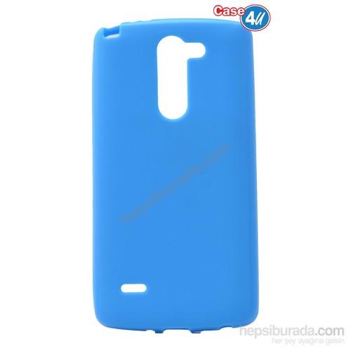 Case 4U Lg G3 Stylus Ultra İnce Silikon Kılıf Mavi