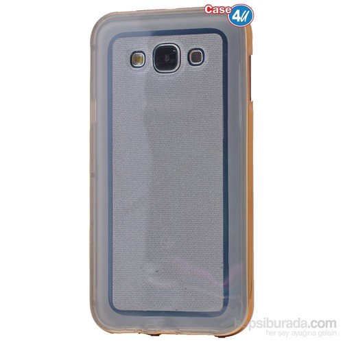 Case 4U Samsung Galaxy Grand Prime Çerçeveli Silikon Kılıf Altın