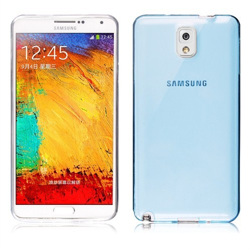 Microsonic Transparent Soft Samsung Galaxy Note 3 Kılıf Mavi