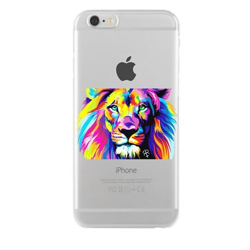 Remeto Samsung Galaxy Note 2 Transparan Silikon Resimli Renkli Aslan Tasarımlı