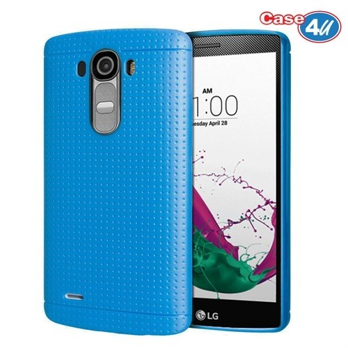 Case 4U LG G4 Dot Style Silikon Kılıf Mavi*