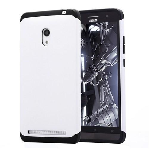 Microsonic Slim Fit Dual Layer Armor Asus Zenfone 6 Kılıf Beyaz