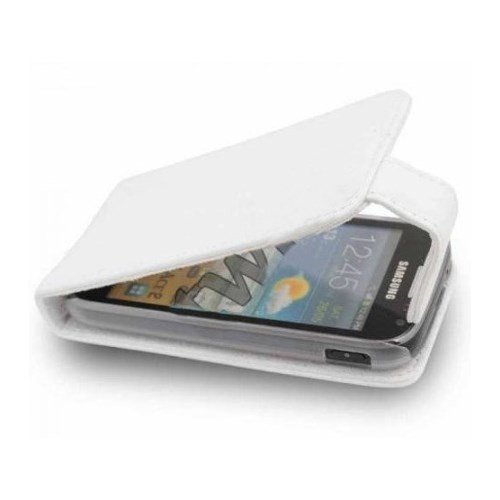 CoverZone Samsung Galaxy Ace 2 İ8160 Kılıf Kapaklı Beyaz