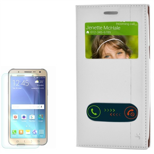 Cep Market Samsung Galaxy J5 Kılıf Pencereli Kapaklı Mıknatıslı Milano Cam