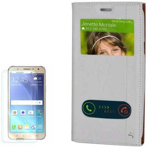 Cep Market Samsung Galaxy J7 Kılıf Pencereli Milano Cam